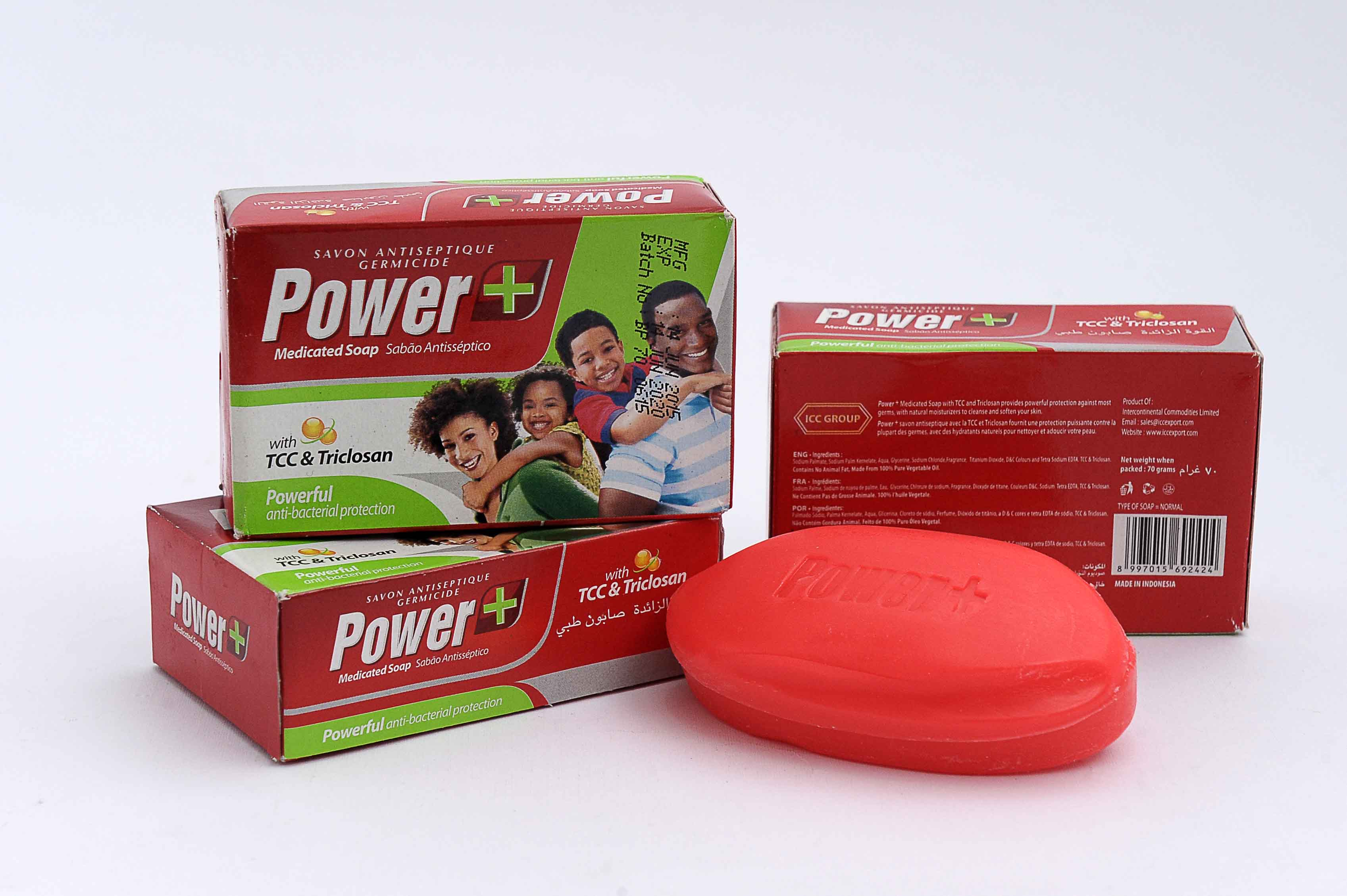 Power+ Medicated Soap 70 gram (Box Packing)
